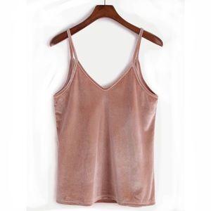 🌸 Rosy Velvet Camisole